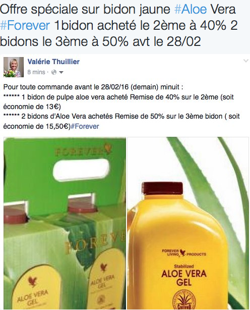 offre spéciale aloe vera